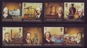 Great Britain Sc 2645-52 2009 Industrial Revolution Pioneers stamp set  mint NH