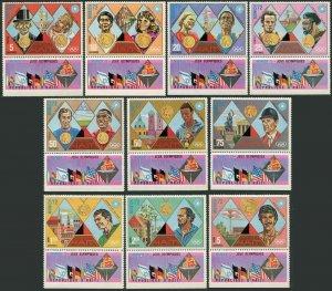 Haiti 662-662-I/tab,MNH.Michel 1205-1214. Olympics Munich-1972. Gold Medals.
