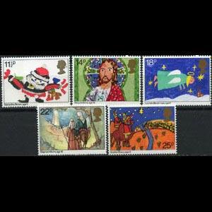 G.B. 1981 - Scott# 960-4 Christmas Set of 5 LH