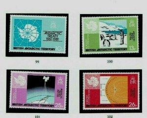 British Antarctic Territory:1981 25th Anniv. Antarctic Treaty MNH + Gutter pairs