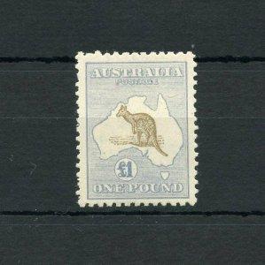 AUSTRALIA  KANGAROO  SCOTT#56 VARIETY, SG#44b   MINT LH--SCOTT VALUE $4500.00