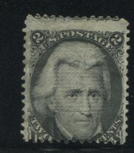 1868 US Stamp #85B 2c Mint No Gum Z. Grill Catalogue Value $6750 Certified