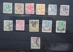 Northern Rhodesia 1925 - 1929 values to 5s Used