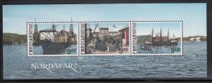 Faroe Islands MNH 2013 Souvenir sheet of 3 Fishing - Nordafar