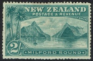 NEW ZEALAND 1898 MILFORD SOUND 2/- NO WMK PERF 12 - 16