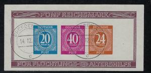 Germany AM Post Scott # B295, used, s/s