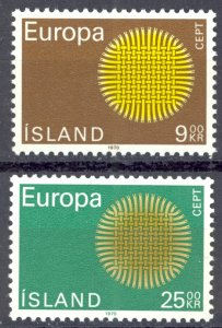 Iceland Sc# 420-421 MNH 1970 Europa