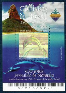 Brazil 2889 MNH S/S Hologram/Dolphin (SCV $3.75)