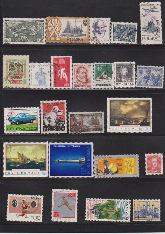 LOT OF DIFFERENT STAMPS OF THE WORLD USED (24) LOT#347