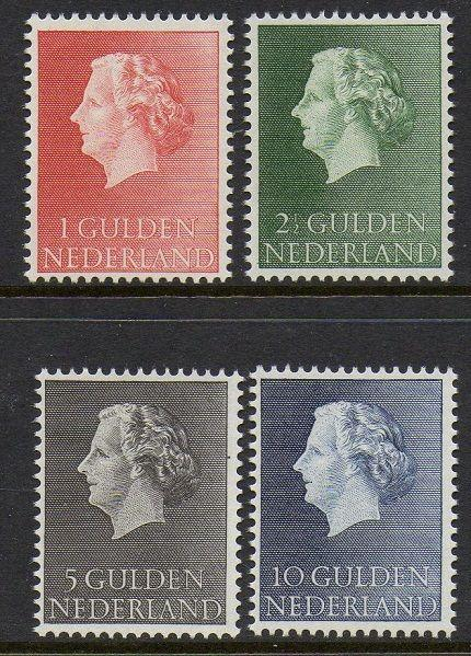 Netherlands 1954-7 Queen Juliana VF MNH (361-4)