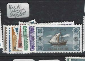 RAS AL KHAIMA  (P1306B)   SHIPS  SG 1-8   MNH