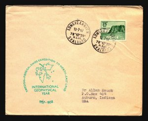 Norway 1947 North - East Land Expedition Cover - Z17842