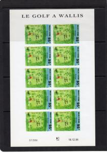 Wallis and Futuna 1996 Sc#477 GOLF Mini-Sheetlet of 10 Stamps IMPERFORATED MNH