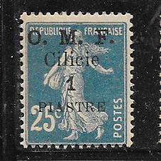 Cilicia #122 1pi on 25c blue (MH)  CV$2.00
