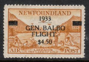 Newfoundland #C18 Extra Fine Mint Jumbo Full OG LH Short Perf **With Cert.**