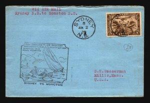 Canada 1929 FFC - Sydney to Moncton - Z16716