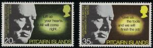 Pitcairn Islands SC144-145 SirWinstonChurchill-Centenary MNH 1974