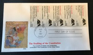 Fleetwood 2355-9 The Drafting of the Constitution All 5 Stamp Booklet Pane