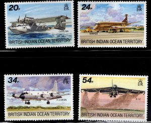 British Indian Ocean Territory BIOT Scott 124-127 MNH** Aircraft set