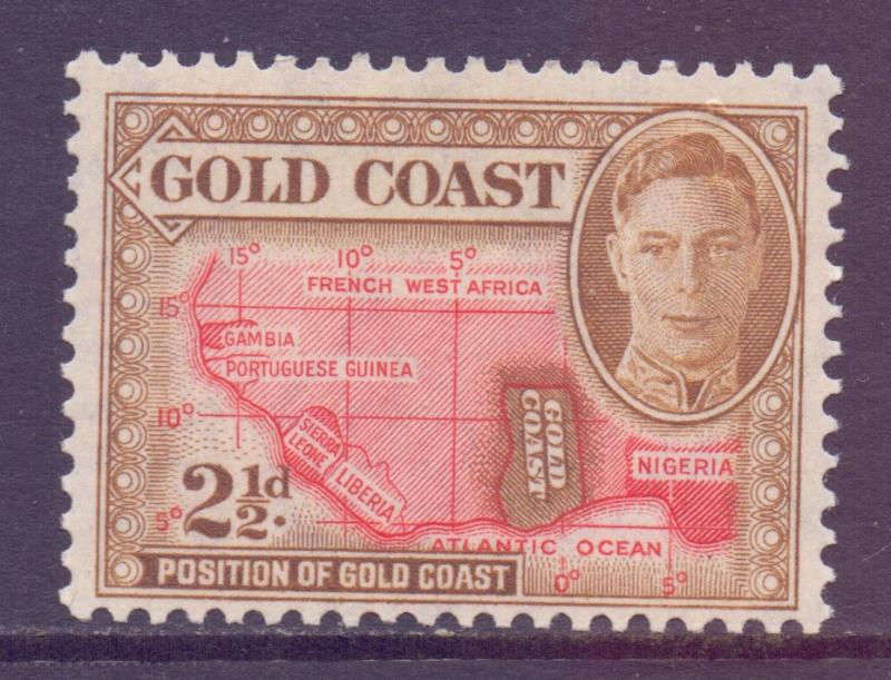 Gold Coast Scott 134 - SG139, 1948 George VI 2.1/2d MH*