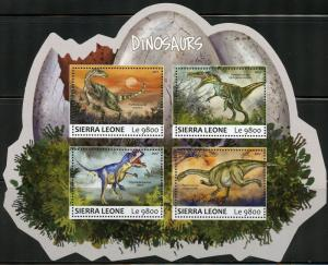 SIERRA LEONE 2017 DINOSAURS  SHEET MINT NEVER HINGED