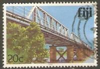 Fiji Used Sc 418 Rewa Bridge, Nauson