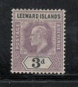 Leeward Islands 1902 King Edward VII 3p Scott # 24 MH