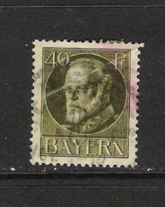 GERMANY BAVARIA 105 VFU CREASED Q648B
