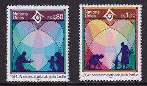 United Nations Geneva  #244-245  MNH 1994  year of the family