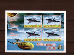 Angola 2001 SPACE MILLENNIUM 2000 CONCORDE s/s Imperforated mnh.vf