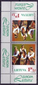 Lithuania. 1998. TB 664. National costumes Europe. MNH.