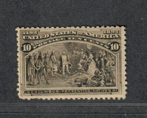 US Sc#237 M/NH/F-VF, Cv. $250