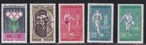 Tunisia # 373-377, Rome Olympics, Mint NH