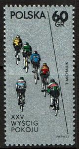 Poland 1876 MNH - Sports Cycling Bicycles - 1972
