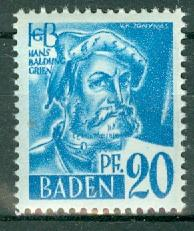 Germany - French Occupation - Baden - Scott 5N7 (SP)
