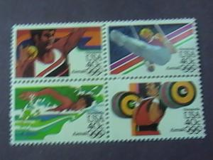 U.S.# C105-C108(C108a)-MINT/NH-- BLOCK OF 4--1984 OLYMPICS-AIR-MAIL-1983