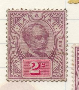 Sarawak 1888 early Brooke Issue used  2c. 196111