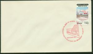 MEXICO 1513, FIRST DAY COVER.Promotion of Touristic Sites, Public Library. F-VF.