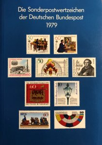 Dt. Bundespost 1979 BRD and Berlin MNH Commemoratives Complete Year in booklet