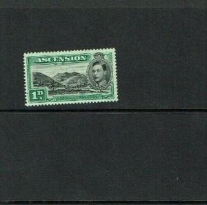 Ascension Is : 1938, 1d black & green, Perf. 13.5, SG39 Mint