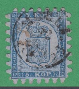 Finlande 4 Très Fine 5 Kop 1860 Mohla Cancel Extrêmement Rare ! R5 Level Rarity