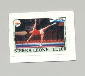 Sierra Leone #1515 Olympics 1v Imperf Proof on Card