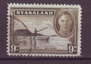 J20901 Jlstamps 1945 nyasaland proct used #75 view perf 12