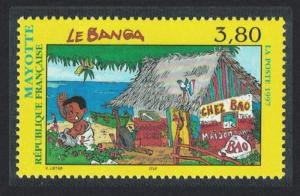 Mayotte Native Dwelling Le Banga 1v SG#53