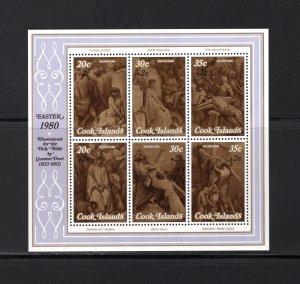 Cook Islands, Scott B80-86, Souv. Sheets, VF,MNH, Easter, CV $4.40  .... 1500197