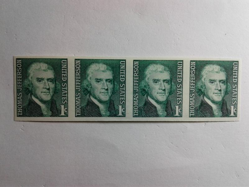 SCOTT # 1299 B  IMPERF RARE GEM STRIP OF 4 MINT NEVER HINGED STUNNING PIECE!