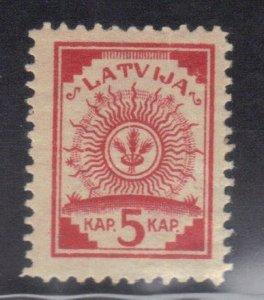 LATVIA SCOTT# 1 MNH 5k 1918  SEE SCAN