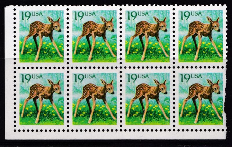 United States 1990 19cent Fawn Dealer Wholesale Lot  VF/NH(**)