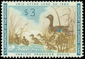 US SCOTT #RW28 MINT-VF+/NH, MIGRATORY BIRD / DUCK HUNTING STAMP! (dk-gp2)
