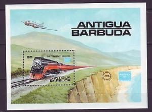 Z42 JLS stamps 1986 rr railroad s/s antigua & barbuda mh